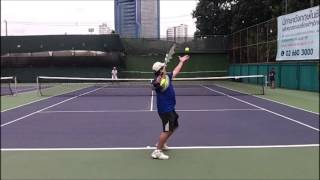 How to Hit the Slice/Curve Serve