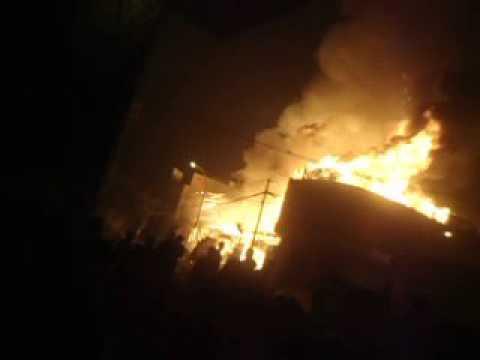 """Incendio en el Distrito de """"MI PERÚ"""" - Ventanilla - Callao . Perú."""