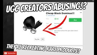 Roblox Players are MAD Of the new UGC Hats... | UGC Players Recreating RARE ROBLOX ITEMS? [Roblox]