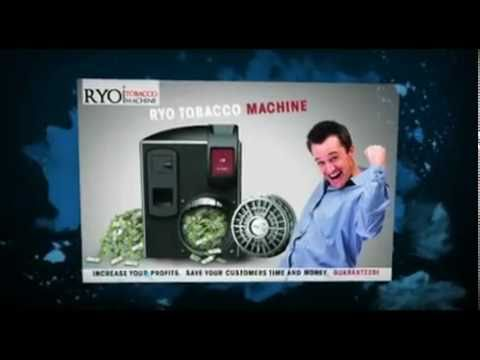 RYO Tobacco Machine for Businesses (800) 901-TOBACCO (8622).flv
