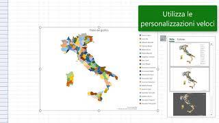 Cartina Italia Modificabile.Office 365 Excel Grafico A Mappa Colorata Youtube