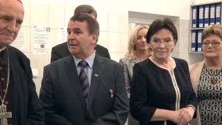 Prezes Rady Ministrów Ewa Kopacz w Mlekovicie