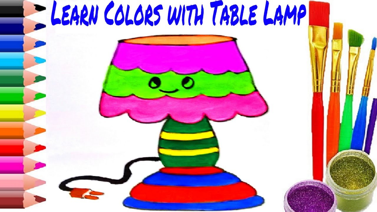 Mesa Para Colorear Learn Colors With Lamp Lamparas De Mesa Para Colorear