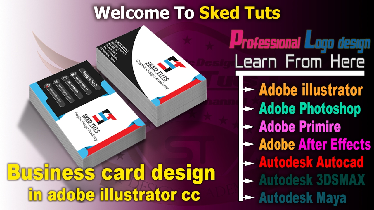Visiting card business card designin in adobe illustrator cc visiting card business card designin in adobe illustrator cc part 01 reheart Choice Image