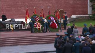Russia  Putin and Moldovan Pres  Dodon pay their respects at Tomb of the Unknown Soldier