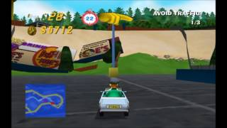 Simpsons Road Rage (Gamecube) Longplay #4