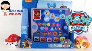 Paw Patrol Tablet Toy for Kids - Learning Number Colour Shapes Letters