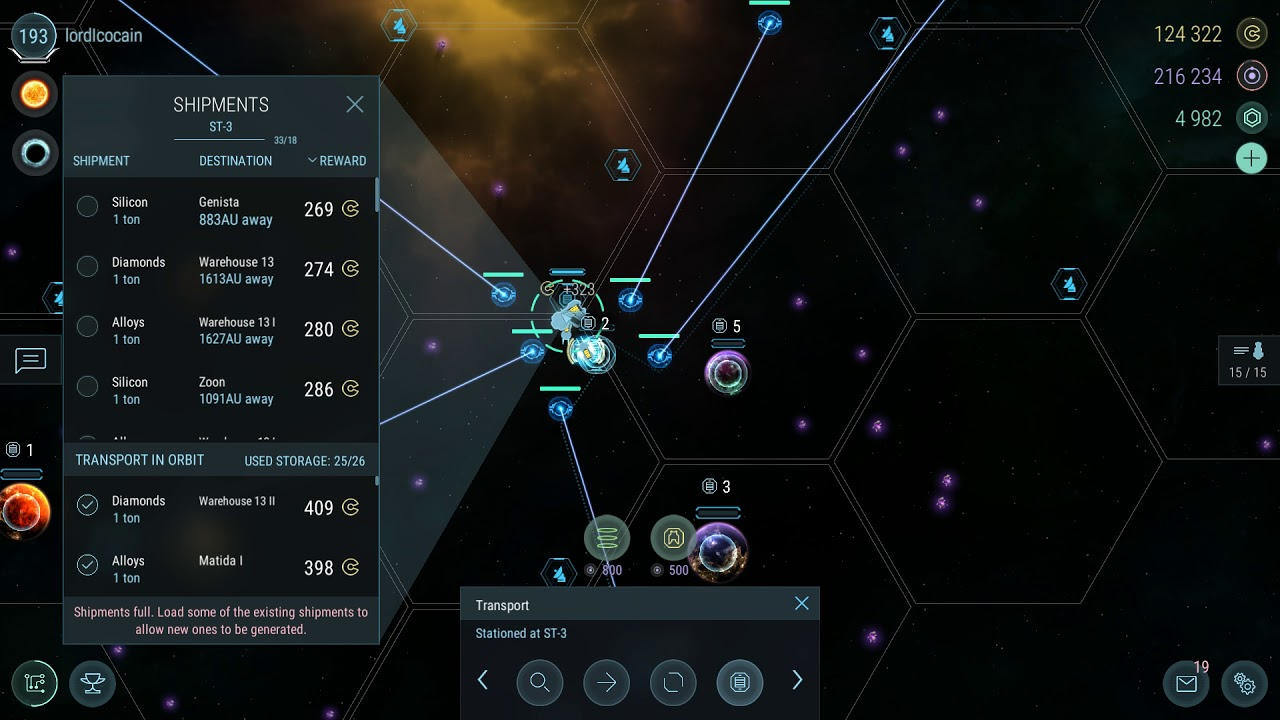 | Hades Star | Steam version | Offload shipments strategy, 16 planet