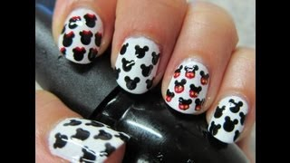 Diseño de uñas #30 ╫ Mickey and Minnie mouse ╫