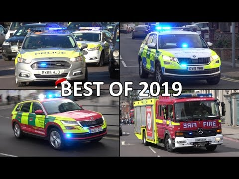 Police, Ambulances And Fire Engines Responding - BEST OF 2019