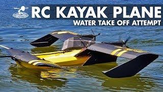 Water Take-off Attempt  RC Flying Kayak