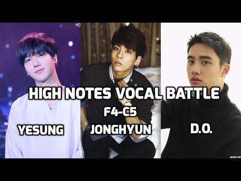 Yesung vs Jonghyun vs D.O. : High Notes Vocal Battle F4-C5 | 예성 vs 종현 vs 디오 : 고음배틀