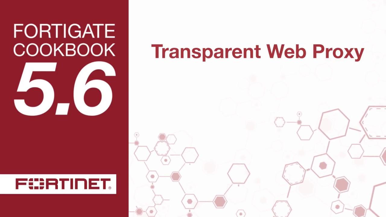 FortiGate Cookbook - Transparent Web Proxy (5 6)