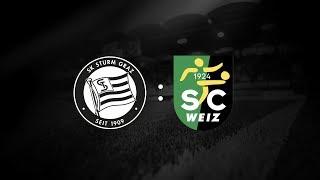 Spielaufzeichnung: Sturm Graz 9:0 SC Weiz (3:0)