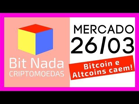 Mercado de Cripto! 26/03 Bitcoin e Alts caem! / NANO / Blockchain / Daniel Fraga