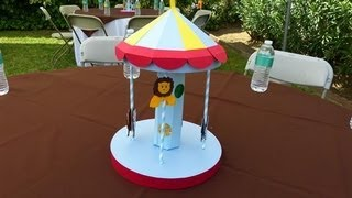 Centerpieces for baby shower - Jungle or Safari themed Carousel