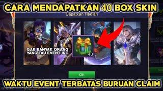 CARA DAPATKAN 40 BOX SKIN PERMANEN DALAM SATU HARI - MOBILE LEGENDS INDONESIA