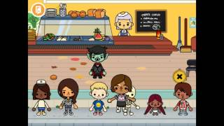 Toca life school game play