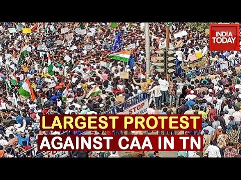 Chennai's Mega Anti-CAA Protest Demands Resolution Against Implementation Of CAA