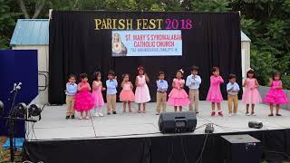 Chindren song and dance SMSMCC CHARLOTTE PARISH DAY MAY 5, 2018
