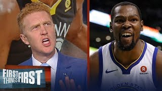 Brian Scalabrine rips Kevin Durant for his off-court drama, fake Tweets | NBA | FIRST THINGS FIRST
