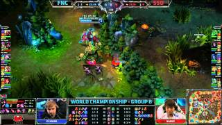 FNC vs SSO | Fnatic vs Samsung Galaxy Ozone | Worlds 2013 Day 4 Group B | Full game HD S3 D4G4