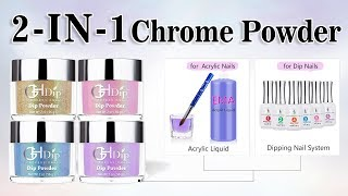 Chrome Nails by 2in1 use Acrylic Dip Powder