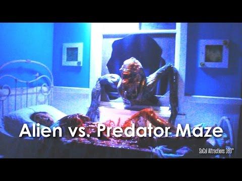 hd avp alien vs. predator maze walkthrough  hollywood halloween horror nights 2014