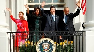 Highlights from Justin Trudeau's welcome to the White House