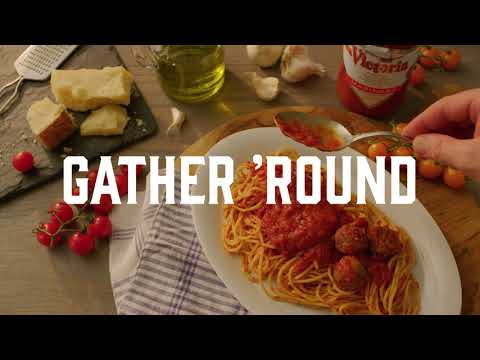 Gather Around Spaghetti with Victoria Pasta Sauce - Victorious Dinner Ideas from Our Family to Yours