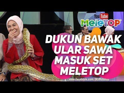 Dukun bawak ular sawa masuk set MeleTOP ! | Datin Paduka Umie Aida , Faizal Hussein & Hasnul Rahmat