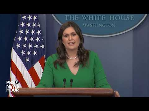 WATCH LIVE: Sarah Sanders holds White House news briefing