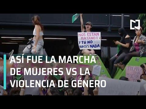 Marcha de mujeres contra la violencia de género en CDMX - En Punto con Denise Maerker