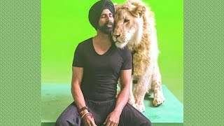 "Akshay Kumar Shoots With A Real Lion In ""Singh Is Bling"""