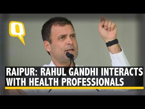 Rahul Gandhi in Raipur: Congress President Interacts With Health Professionals in Chhattisgarh