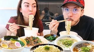 Ramen Noodles MUKBANG with My Boyfriend! (Vegan)