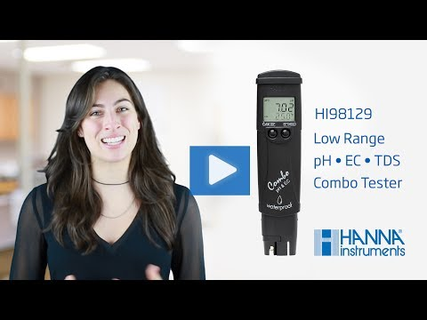 Hanna Lab - Learn How To Set Up And Calibrate The Hanna Instruments PH, EC, TDS Combo Tester HI98129