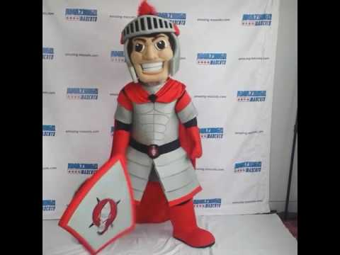 Custom knight mascot costume
