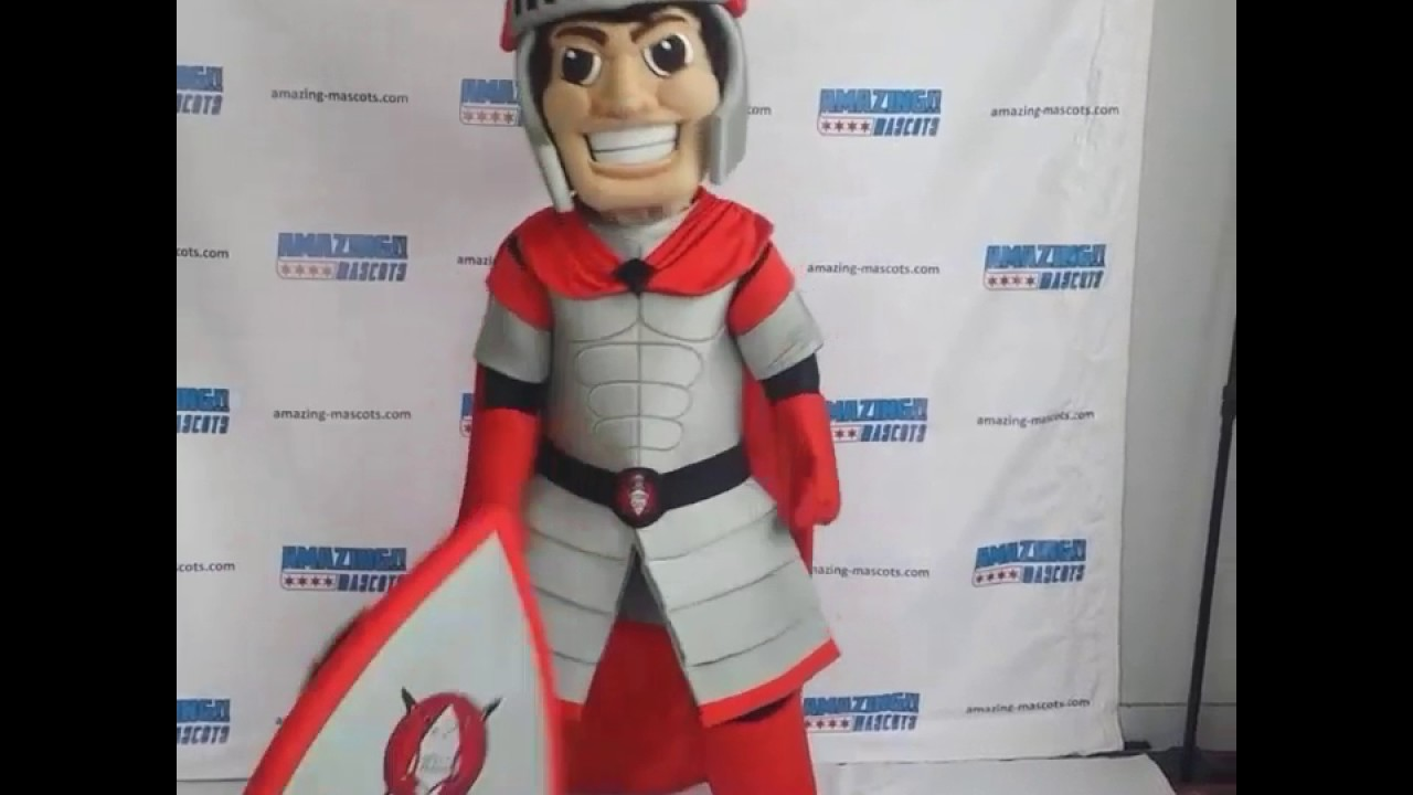 Custom knight mascot costume  sc 1 st  YouTube & Custom knight mascot costume - YouTube