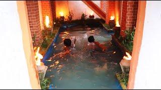 Rise Creative Build Swimming Pool Under Villa House