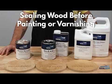 Sealing Wood for Varnish