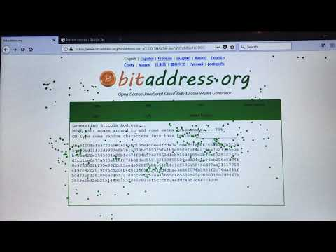Using BitAddress.org