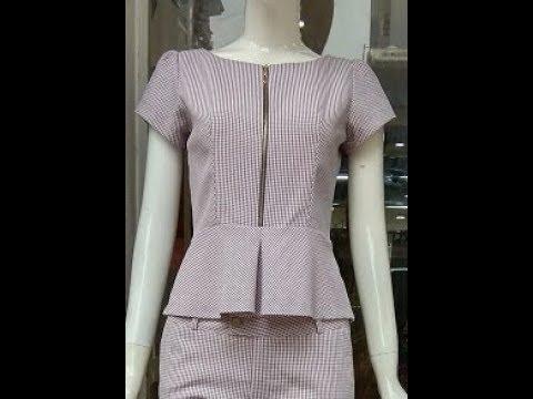 Dạy cắt may  Hướng dẫn cắt áo lửng xòe eo. How to Tailor a shirt.
