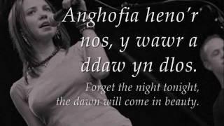 Fin Nos - Meinir Gwilym (geiriau / lyrics)