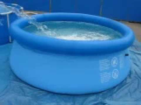 Piscina easy set intex youtube for Alberca intex