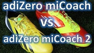 Adidas F50 adizero miCoach 2 VS Adidas F50 adizero miCoach Synthetic Comparison + On Feet