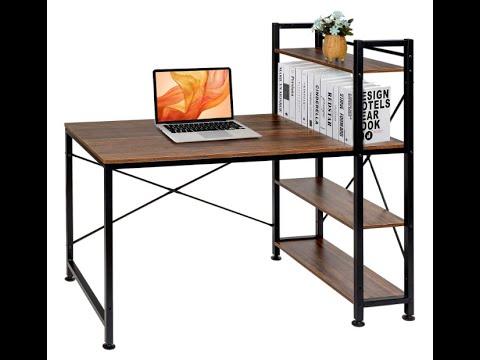 Download VECELO KHD-DX-T01 Computer Office Desk/Multipurpose Study Table H Shape