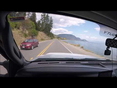 Driving Along Okanagan Lake To Kelowna, B.C.
