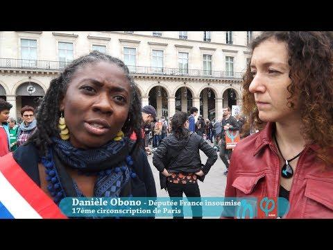 Interview Députée Danièle Obono par Emilie Chazette France Insoumise Manifestation Anti Etat Urgence