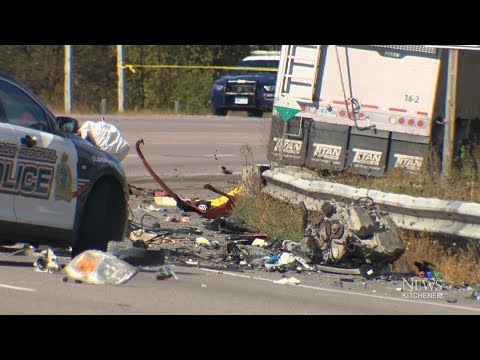 Fatal crash during police pursuit kills two in Ontario